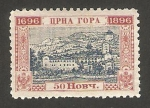 Stamps Europe - Montenegro -  vista de cetinje, mausoleo de principes