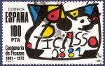 Sellos de Europa - España -  Edifil 2609 Homenaje a Picasso 100