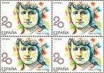 Sellos del Mundo : Europa : España : mujeres famosas españolas.