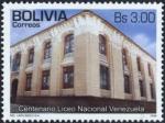 Sellos de America - Bolivia -  Centenario Liceo Naciona Venezuela