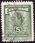 Stamps of the world : Ecuador :  Casa de correos y telégrafos