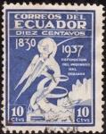 Stamps Ecuador -  Exposicion del progreso del Ecuador.