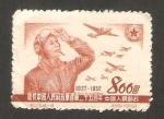 Stamps China -  25 anivº del ejercito de liberación, aviador