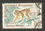 Sellos de Africa - Camerún -  fauna, cercopitheque moustac
