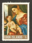 Stamps New Zealand -  Islas Cook - Navidad, cuadro de titien