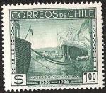 Stamps Chile -  CENTENARIO DESCUBRIMIENTO DE CHILE - COMERCIO VALPARAISO