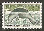 Stamps : Africa : Niger :  protección de la fauna, lamantin