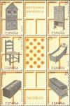 Sellos de Europa - España -  artesania españolas(muebles)