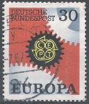 Stamps Germany -  Europa CEPT.  Engranajes.