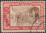 Stamps Romania -  RUMANIA 1907 Scott B19 Sello Angel de la Guarda Princesa Maria ante los Pobres usado