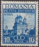 Stamps Romania -  RUMANIA 1937 Scott 468 Sello Catedral Curtea de Arges Petit Entente (Rumania, Checoslovaquia, Yugosl