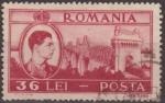 Sellos de Europa - Rumania -  RUMANIA 1947 Scott 676 Sello Rey Miguel y Puente Cemavoda usado