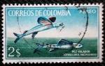 Stamps Colombia -  Pez Volador. Icipselurus Pacificensin
