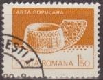 Sellos de Europa - Rumania -  RUMANIA 1982 Scott 3104 Sello Nuevo Artesania Popular Cuchara de Madera Valea Mare Matasello Favor