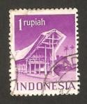 Stamps : Asia : Indonesia :  Una construcción