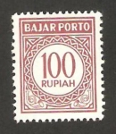 Stamps : Asia : Indonesia :  sello tasa