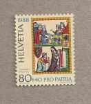 Sellos de Europa - Suiza -  Pro Patria 1988