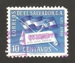 Stamps : America : El_Salvador :  IV anivº de la revolución