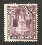 Stamps : America : El_Salvador :  monumento de daniel hernandez