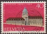 Stamps Switzerland -  Suiza 1983 Scott 734 Sello Arquitectura Edificios Universidad Zurich Michel 1246 Switzerland Suisse