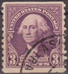 Stamps United States -  USA 1932 Scott 720 Sello Presidente George Washington usado Estados Unidos Etats Unis