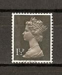 Sellos de Europa - Reino Unido -  Isabel II / Serie Basica / dos bandas de fosforo