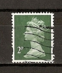 Stamps United Kingdom -  Isabel II/ Serie Basica / Dentado Seguridad