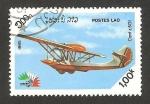 Stamps : Asia : Laos :  aeroplano