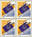 Stamps Spain -  mercado unico europeo