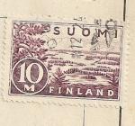 Stamps Europe - Finland -  Paisaje de lagos