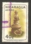 Stamps : America : Nicaragua :  antigua imagen indígena
