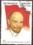 Sellos de America - Nicaragua -  115 anivº del nacimiento de Lenin