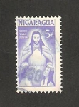 Stamps Nicaragua -  840 - Sobre tasa para obras de beneficencia, Jesús con dos niños