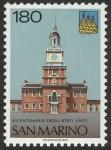 Sellos de Europa - San Marino -  ESTADOS UNIDOS -  Independence Hall