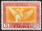 Stamps Spain -  518 Qinta de Goya en EXPO-29 de Sevilla. Disparate volante.
