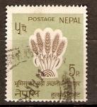 Sellos de Asia - Nepal -  GRANOS   DE   TRIGO