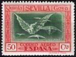 Sellos de Europa - España -  525 Quinta de Goya en EXPO-29 de Sevilla. Manera de volar.