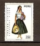 Stamps America - Peru -  TRAJE  TÍPICO   DE  CATACAOS  PIURA