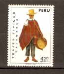 Stamps of the world : Peru :  TRAJE  TÍPICO  DE  CAJAMARCA