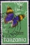 Sellos del Mundo : Africa : Tanzania : Tanzania 1973 Sello Mariposas Butterflies Laliachini Euphaedra Neophoron Usado