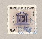 Stamps El Salvador -  20 Aniv de la UNESCO