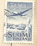 Stamps Finland -  Avion