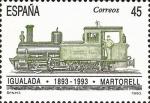 Sellos de Europa - España -  centenario del ferrocarril igualada-martorell