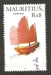 Stamps Africa - Mauritius -  maqueta del barco sampan