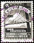 Stamps Ecuador -  Concurrencia a la exposicion internacional de la puerta de oro