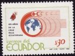 Sellos del Mundo : America : Ecuador : 125 años de la cruz roja Ecuatoriana