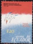 Sellos de America - Ecuador -  Bicentenario de la revolucion francesa