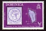 Stamps Dominica -  Centenario del primer sello