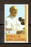 Sellos de Africa - Guinea Ecuatorial -  Viaje de S.S. Juan Pablo II
