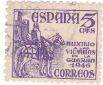 Stamps of the world : Spain :  Cid. Auxilio a las victimas de la guerra 1946
